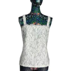 Alex Evenings - Square Neckline Floral Lace Top